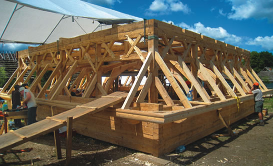 Timberframe Commubity Project in Poland