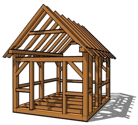 Fourteen Small Timber Frames